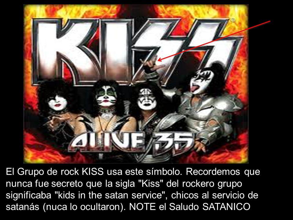 El Grupo de rock KISS usa este símbolo