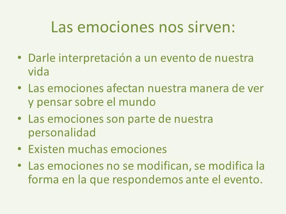 Las emociones nos sirven: