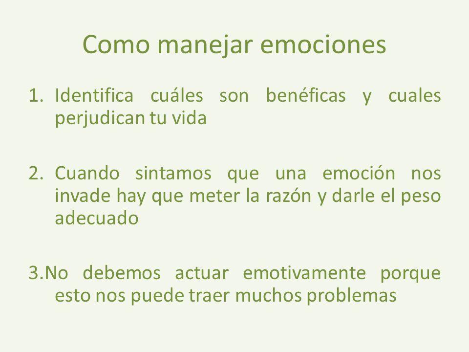 Como manejar emociones