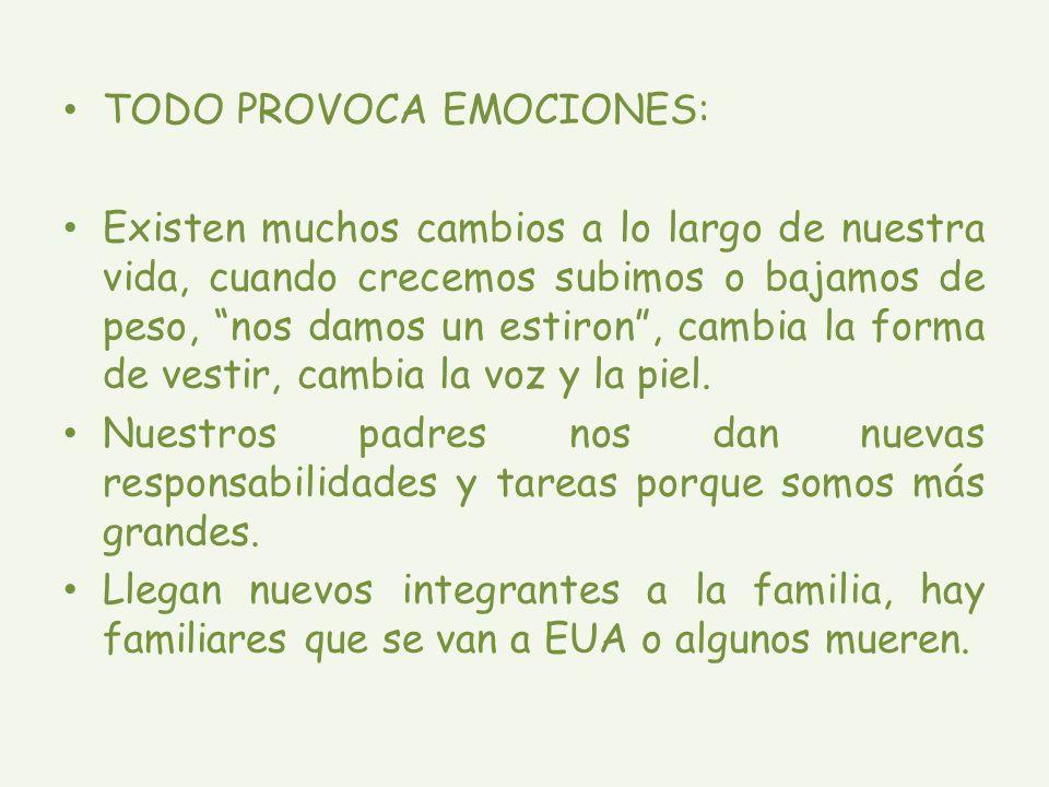 TODO PROVOCA EMOCIONES: