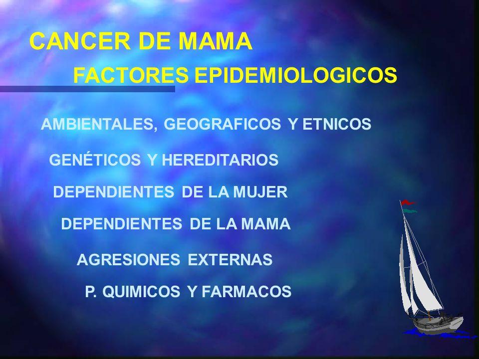 CANCER DE MAMA FACTORES EPIDEMIOLOGICOS
