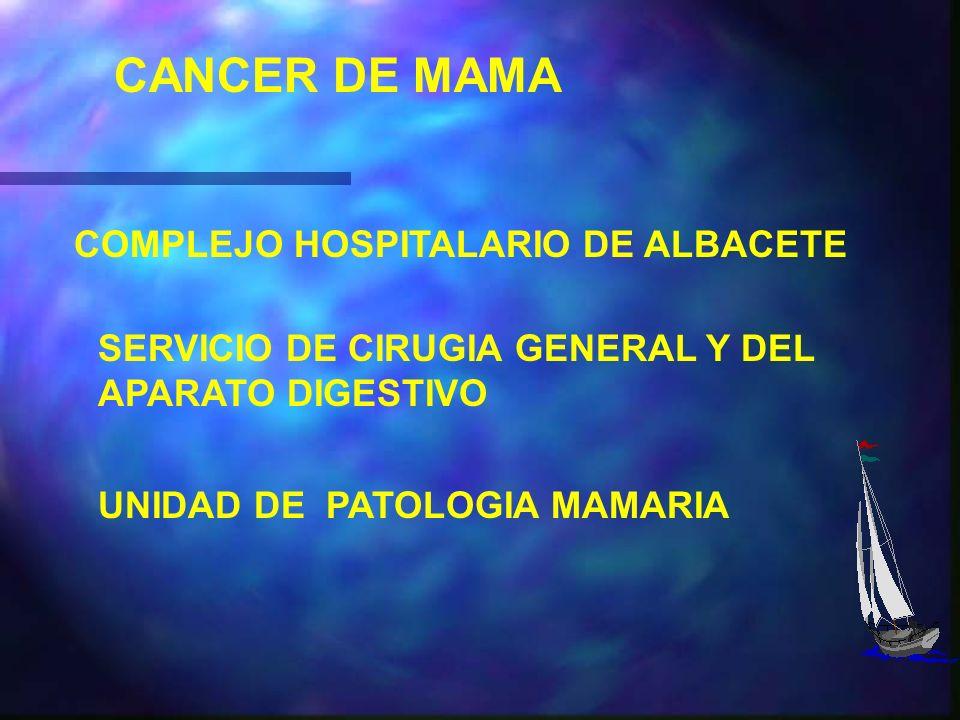 CANCER DE MAMA COMPLEJO HOSPITALARIO DE ALBACETE