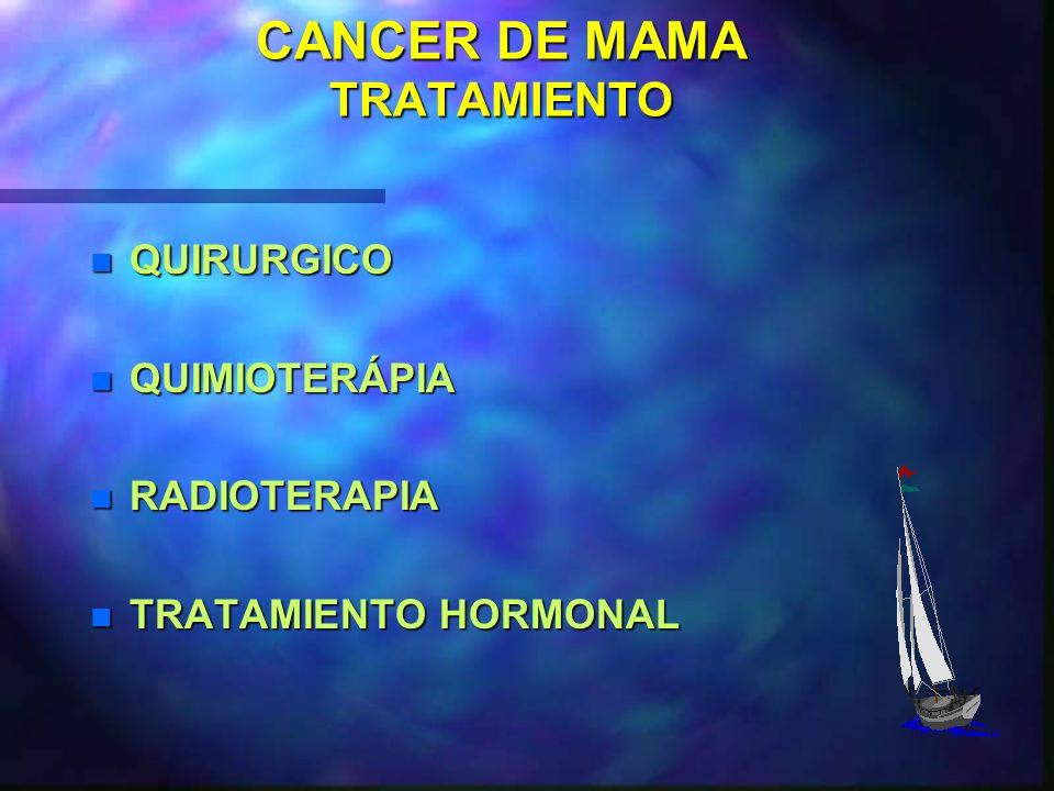 CANCER DE MAMA TRATAMIENTO