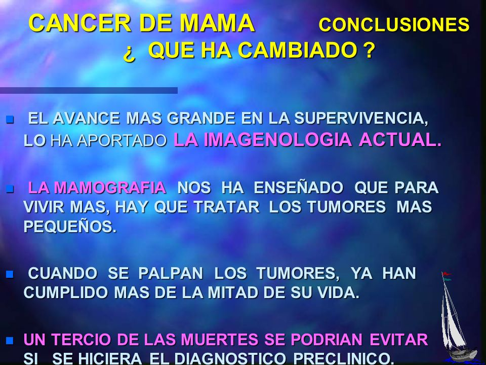 CANCER DE MAMA CONCLUSIONES ¿ QUE HA CAMBIADO