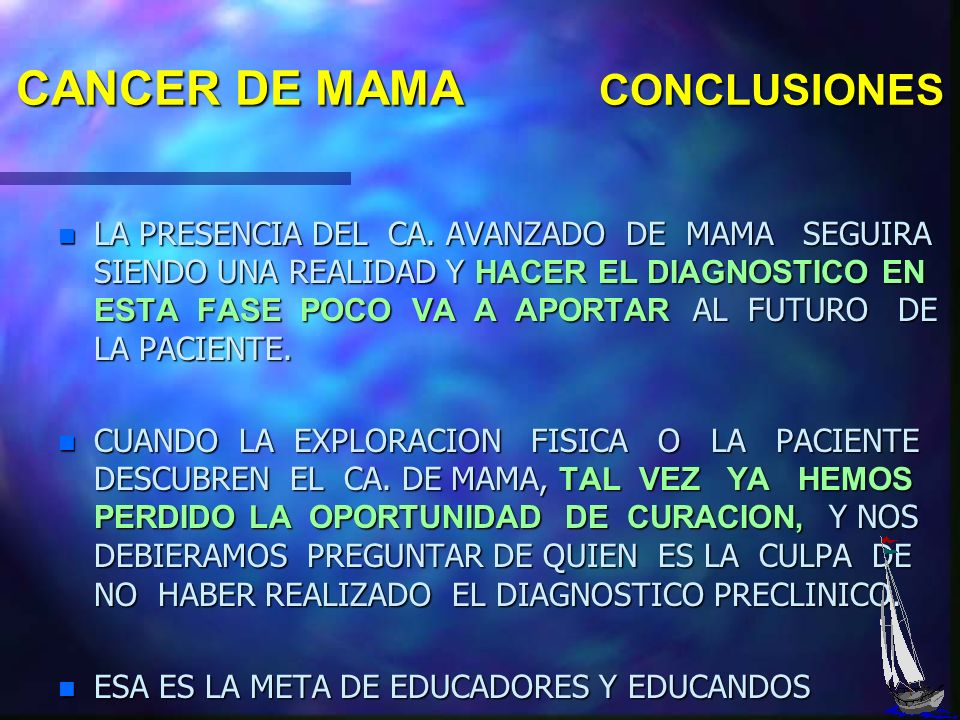 CANCER DE MAMA CONCLUSIONES
