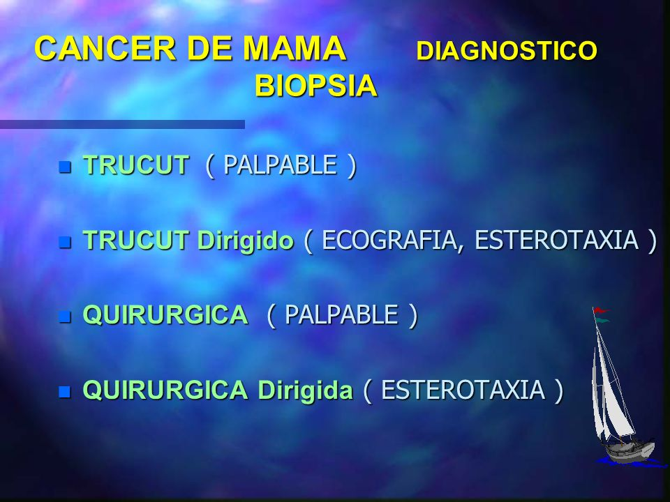 CANCER DE MAMA DIAGNOSTICO BIOPSIA