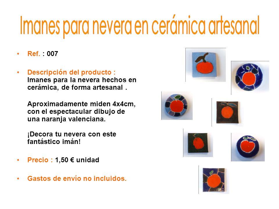 Imanes para nevera en cerámica artesanal
