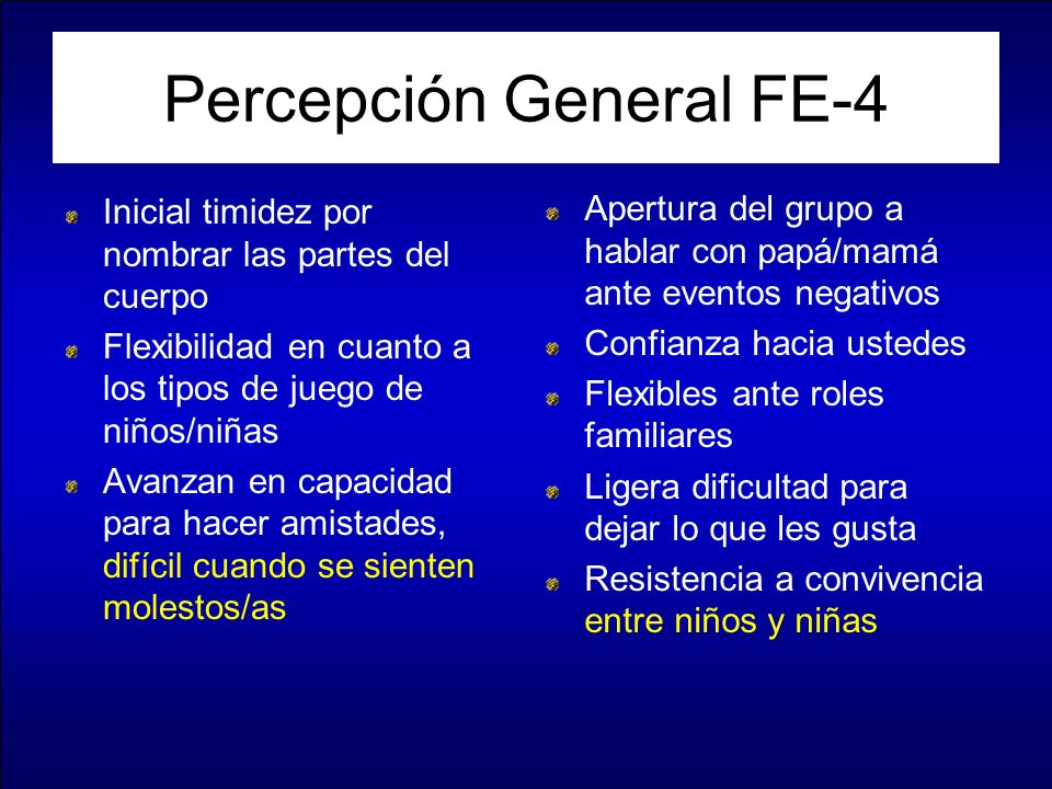 Percepción General FE-4