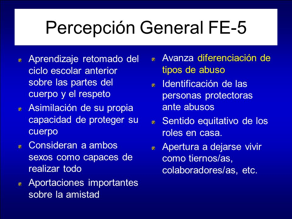 Percepción General FE-5