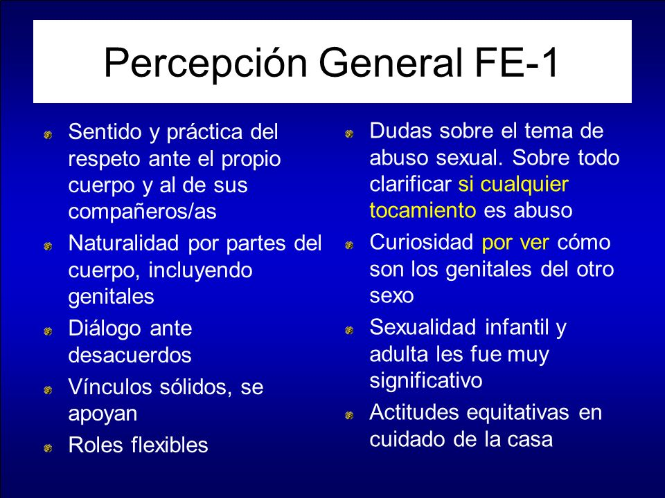 Percepción General FE-1