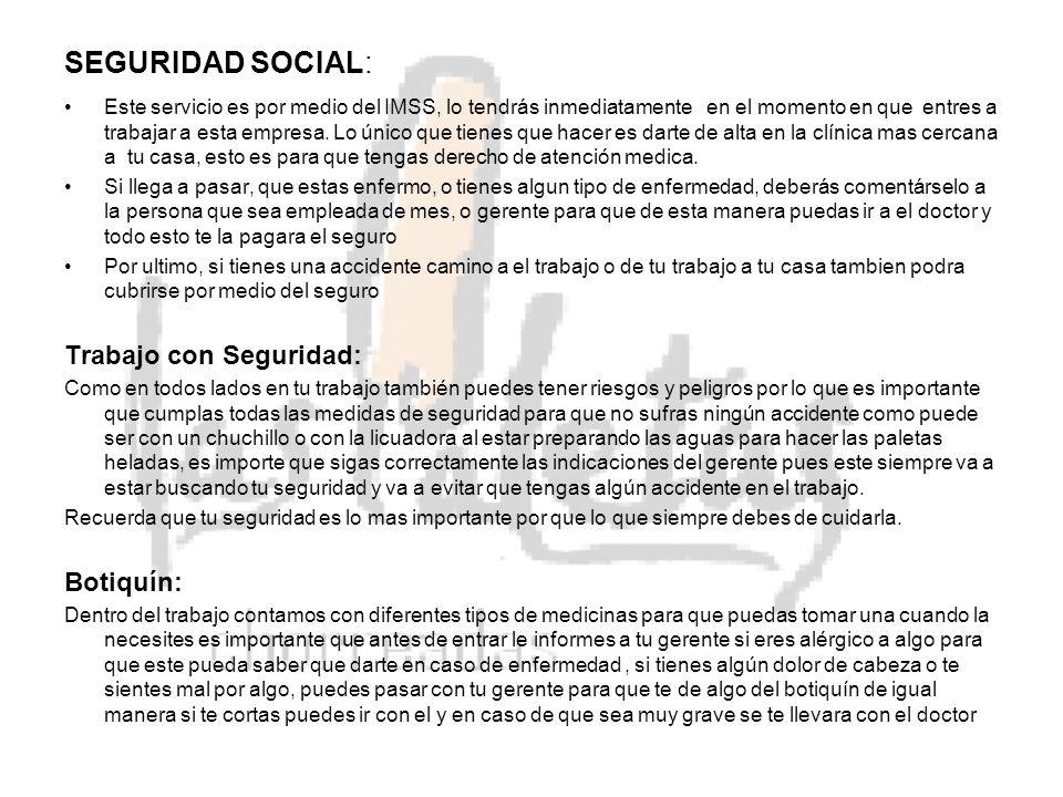 SEGURIDAD SOCIAL: Trabajo con Seguridad: Botiquín: