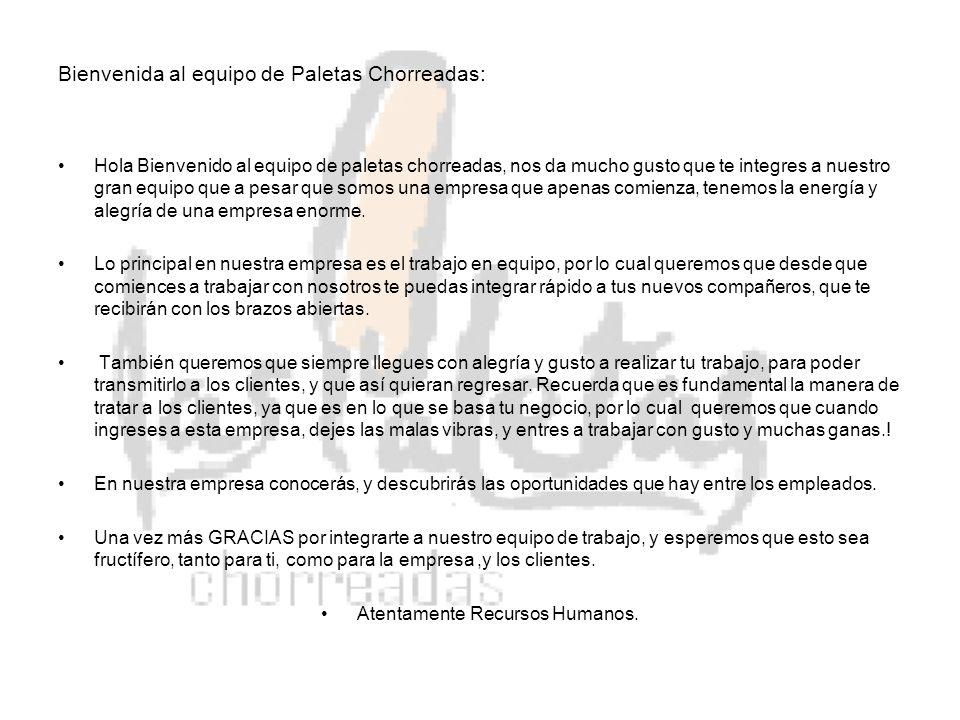 Bienvenida al equipo de Paletas Chorreadas: