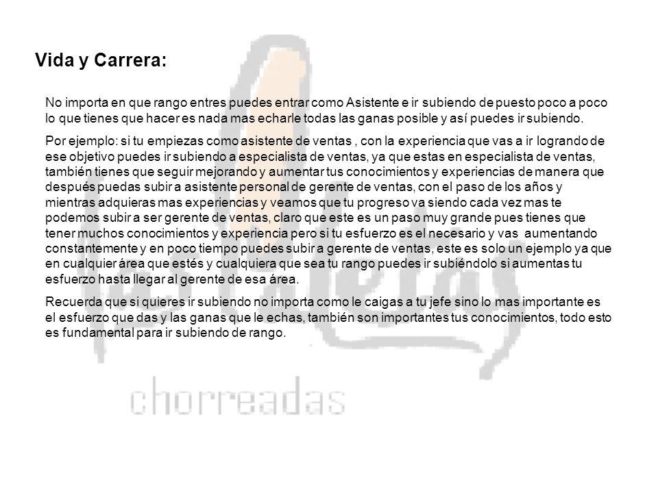 Vida y Carrera: