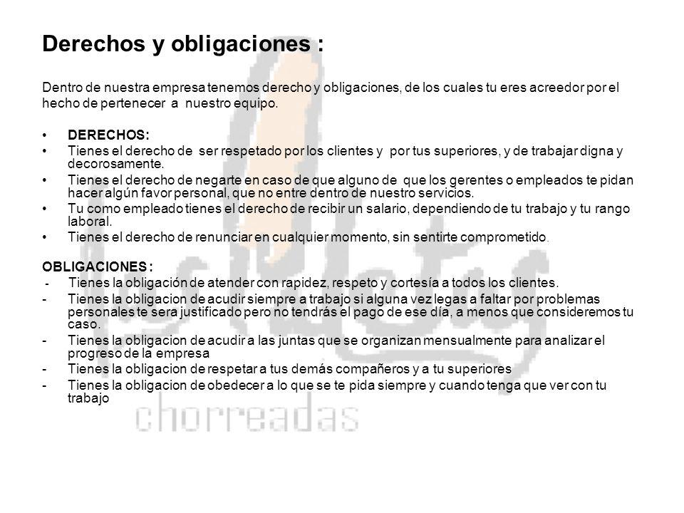 Derechos y obligaciones :