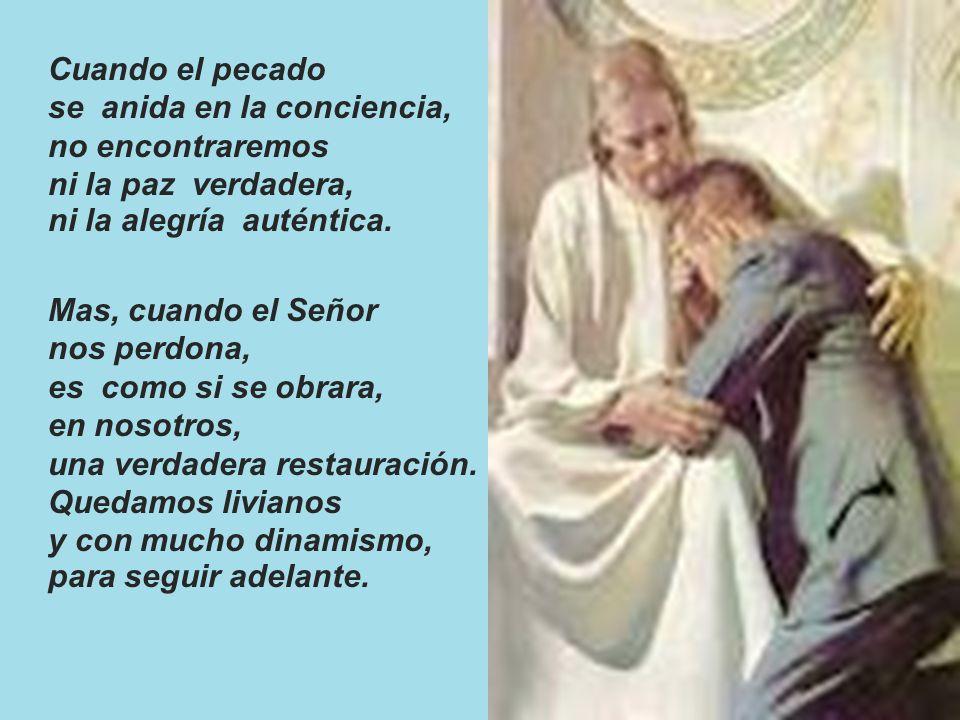 Cuando el pecado se anida en la conciencia, no encontraremos ni la paz verdadera, ni la alegría auténtica.