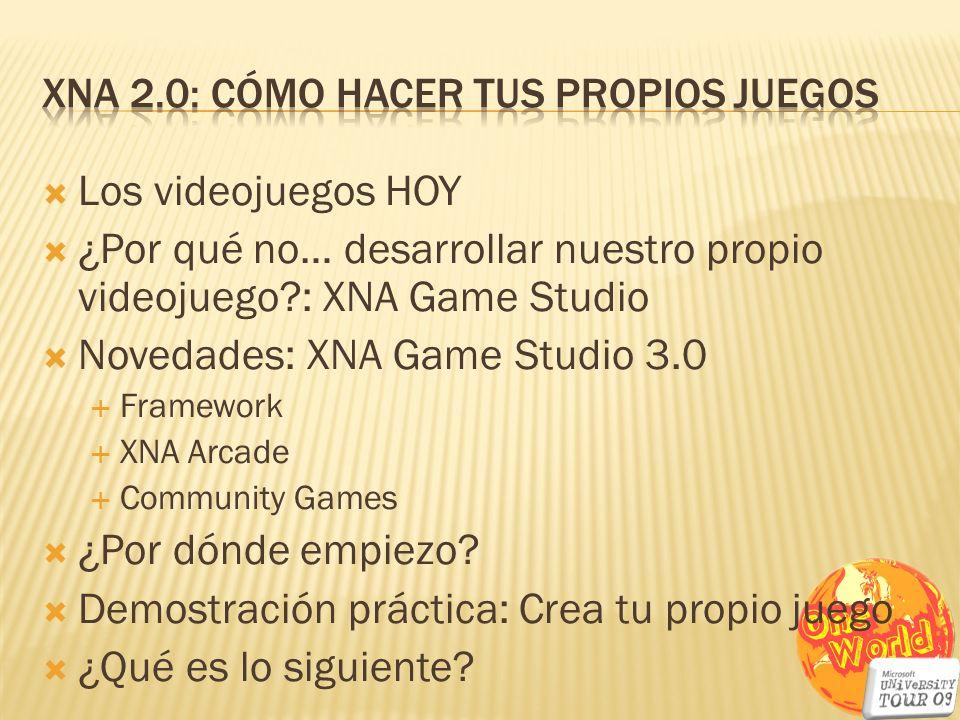 XNA 2.0: Cómo hacer tus propios juegos