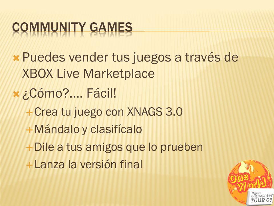 Puedes vender tus juegos a través de XBOX Live Marketplace