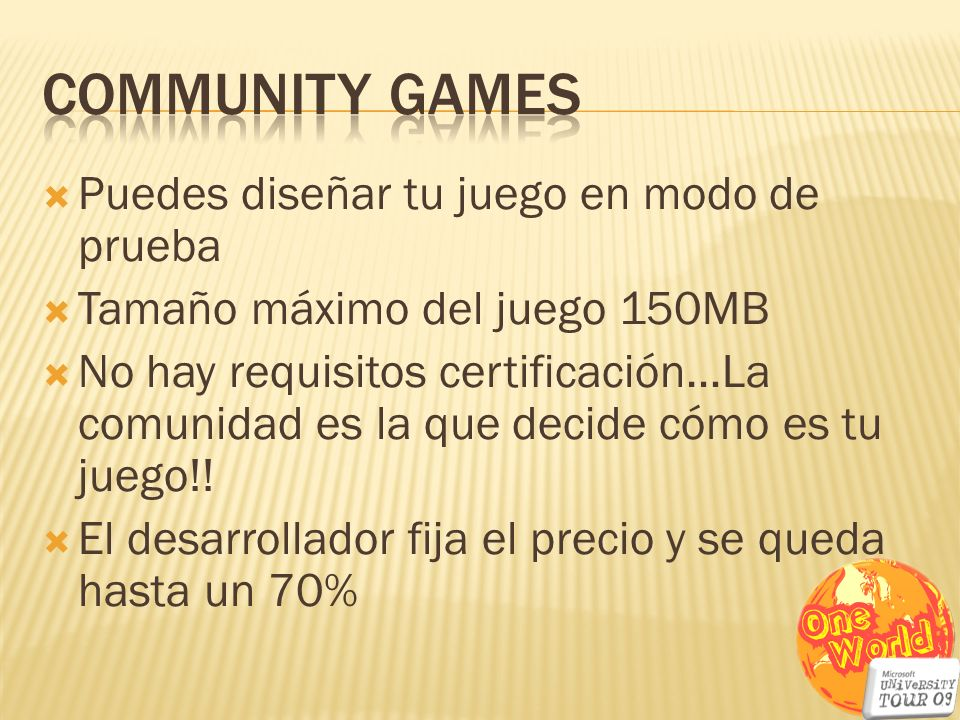 Community Games Puedes diseñar tu juego en modo de prueba
