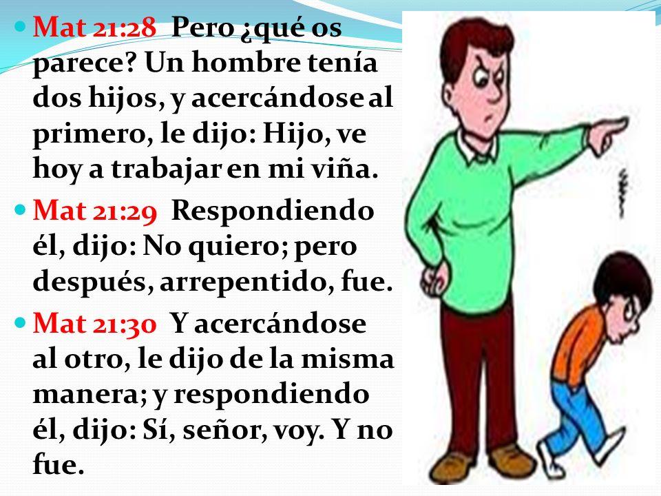 Mat 21:28 Pero ¿qué os parece