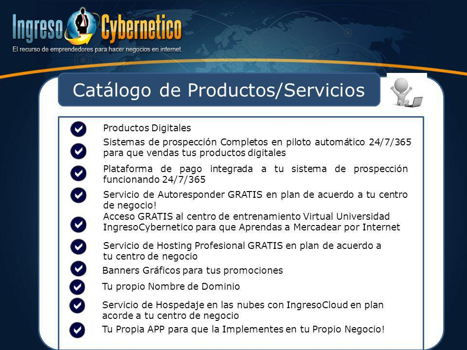 Catálogo de Productos/Servicios