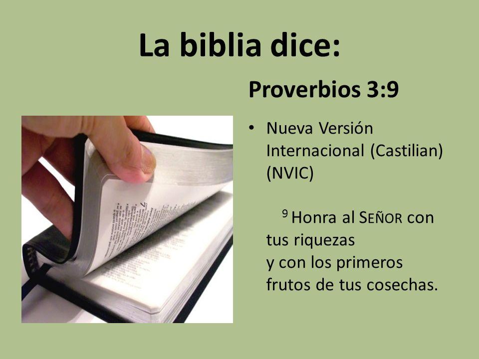 La biblia dice: Proverbios 3:9