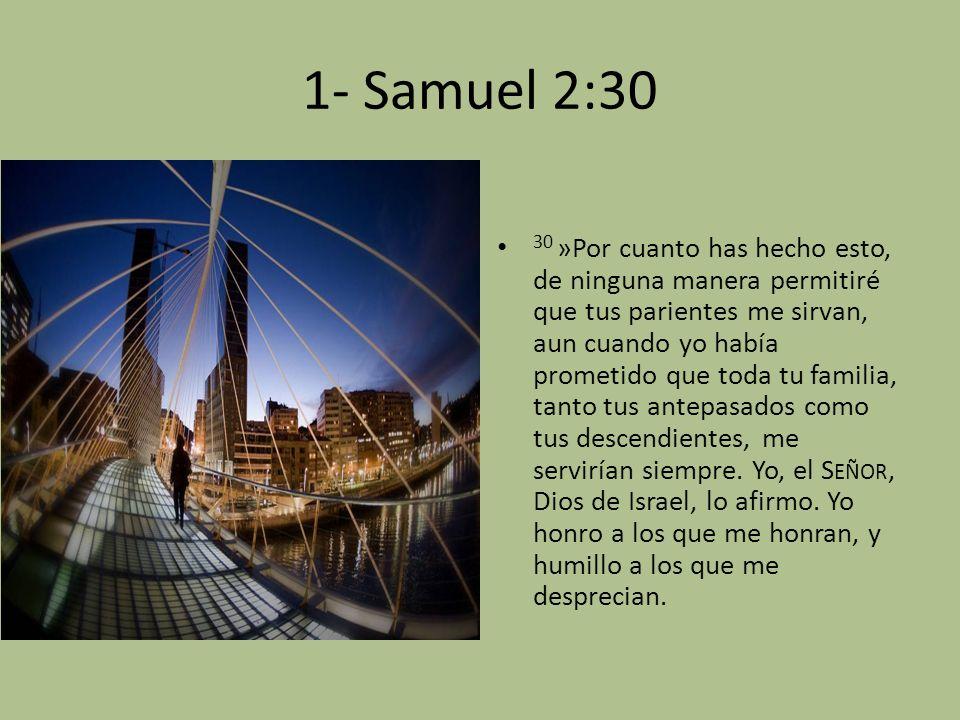 1- Samuel 2:30