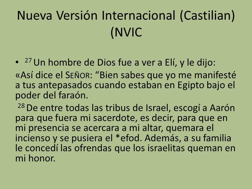 Nueva Versión Internacional (Castilian) (NVIC