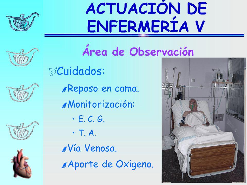 ACTUACIÓN DE ENFERMERÍA V