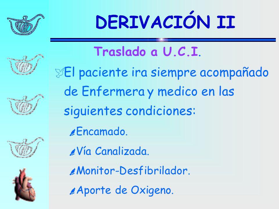 DERIVACIÓN II Traslado a U.C.I.
