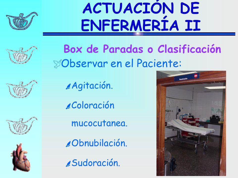 ACTUACIÓN DE ENFERMERÍA II