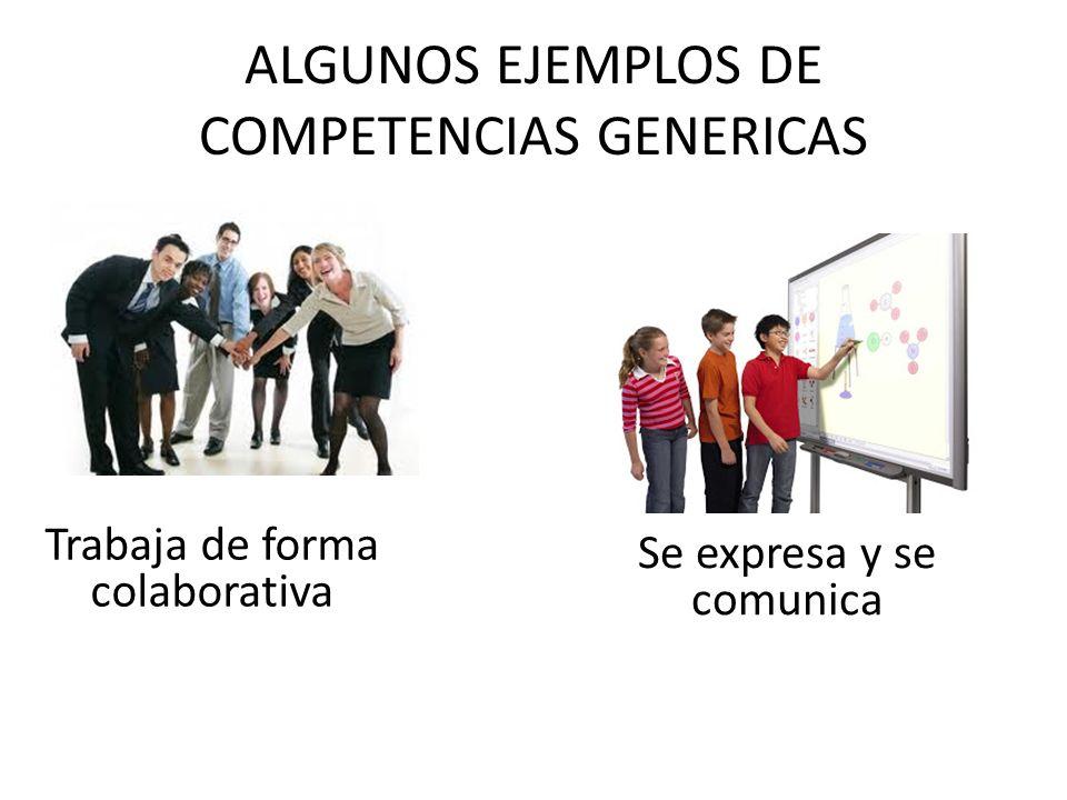 ALGUNOS EJEMPLOS DE COMPETENCIAS GENERICAS
