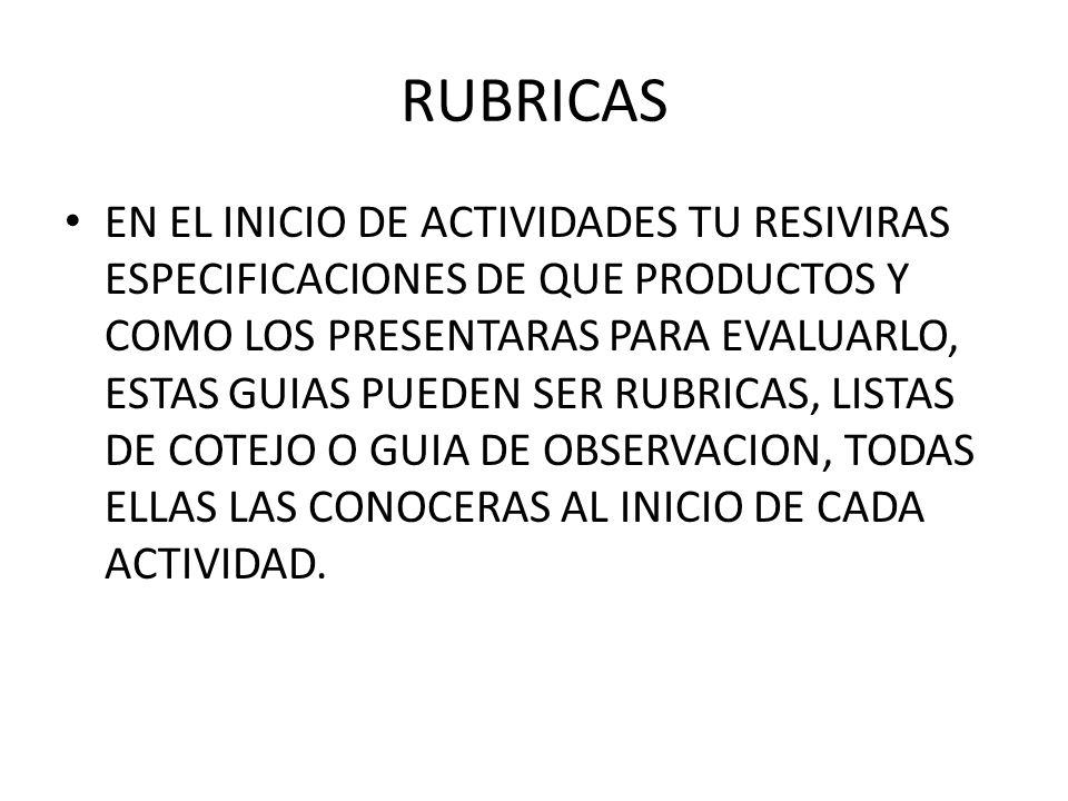 RUBRICAS