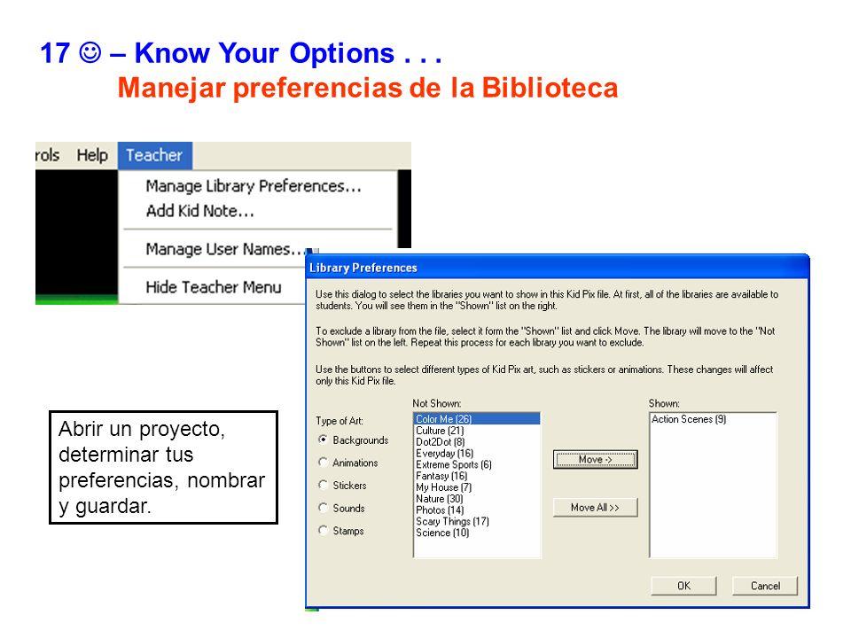 Manejar preferencias de la Biblioteca