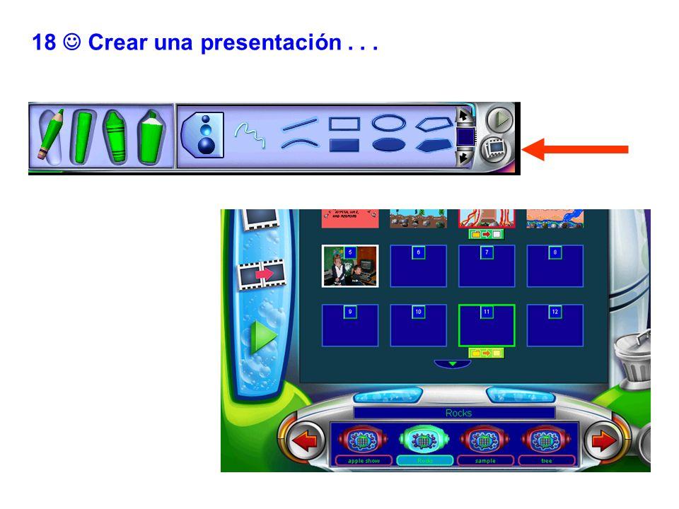18  Crear una presentación . . .