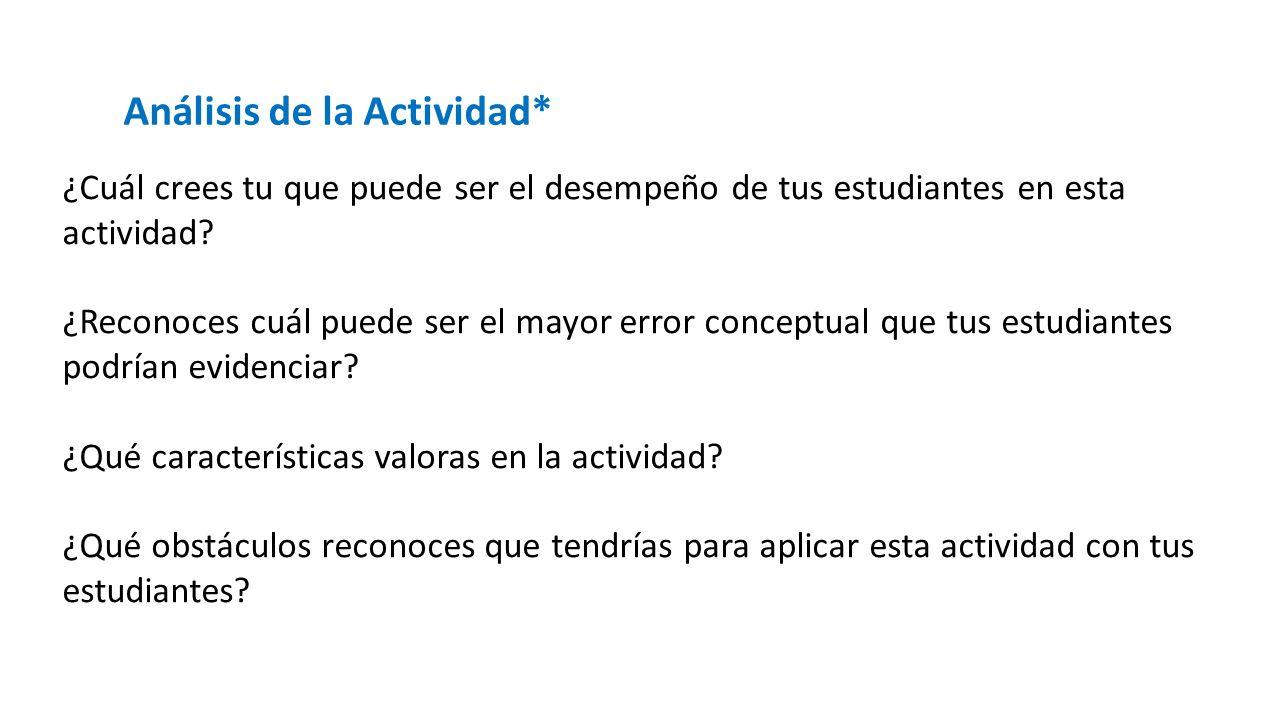 Análisis de la Actividad*
