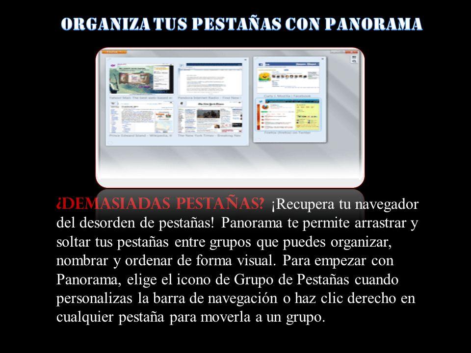 Organiza tus pestañas con Panorama