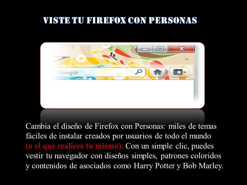 Viste tu Firefox con Personas