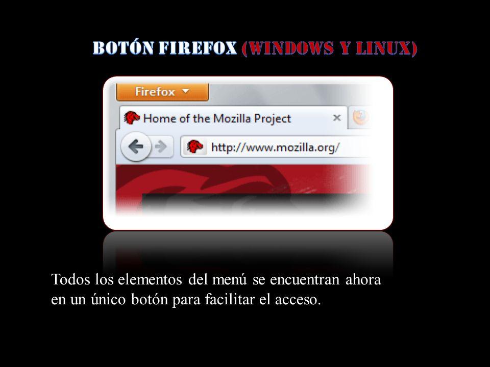Botón Firefox (Windows y Linux)
