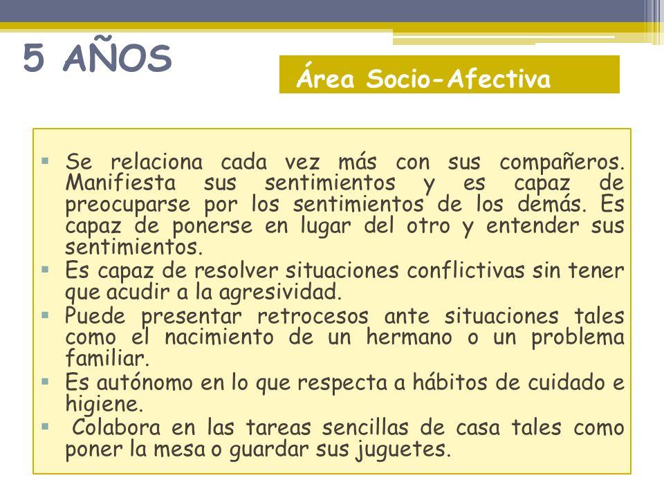 5 AÑOS Área Socio-Afectiva