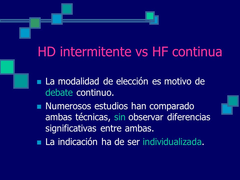 HD intermitente vs HF continua