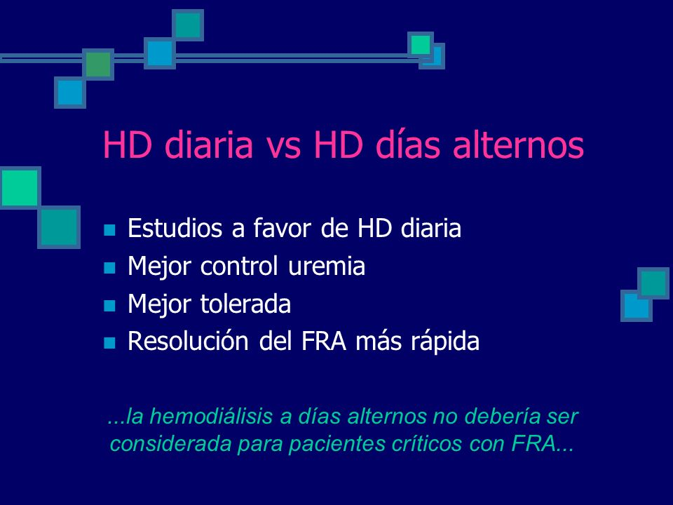 HD diaria vs HD días alternos