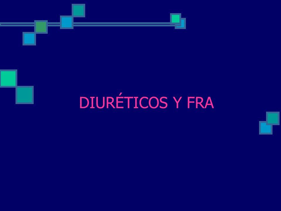 DIURÉTICOS Y FRA
