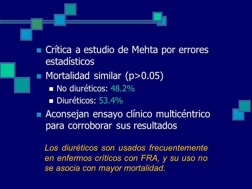 Crítica a estudio de Mehta por errores estadísticos