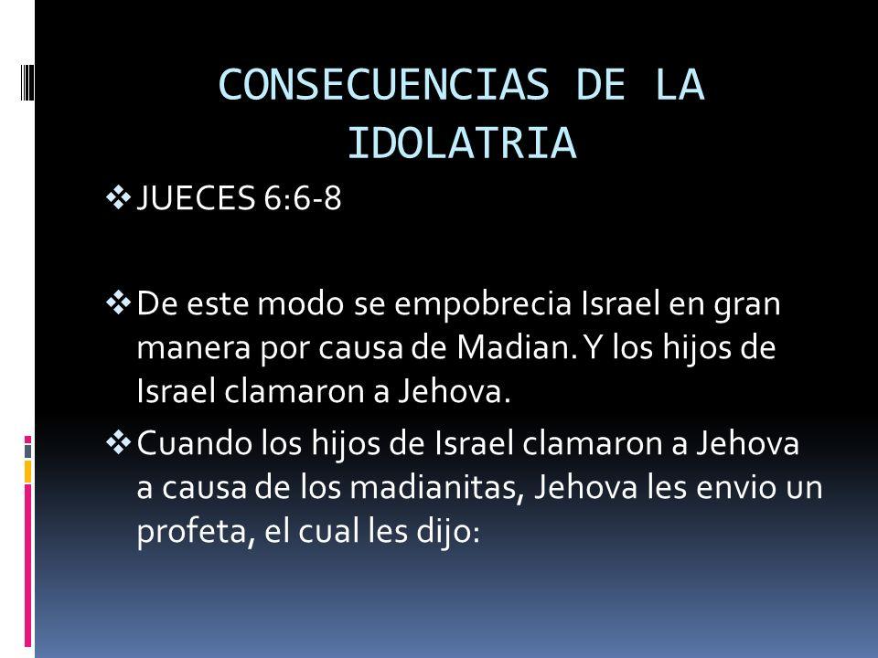 CONSECUENCIAS DE LA IDOLATRIA