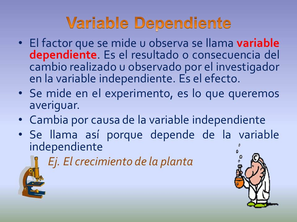 Variable Dependiente