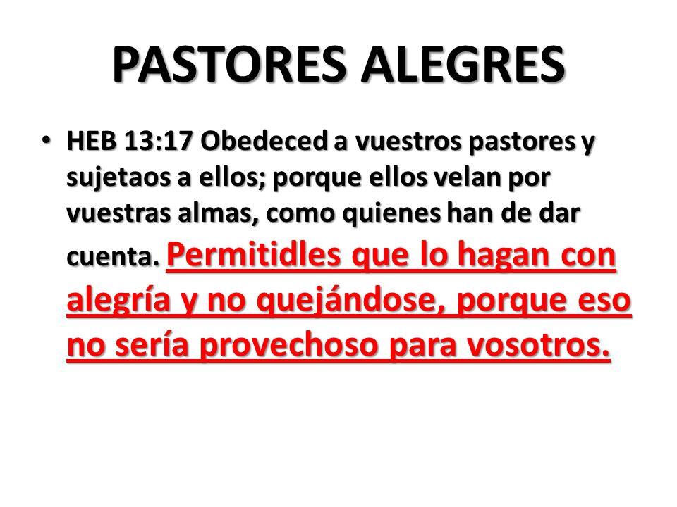 PASTORES ALEGRES