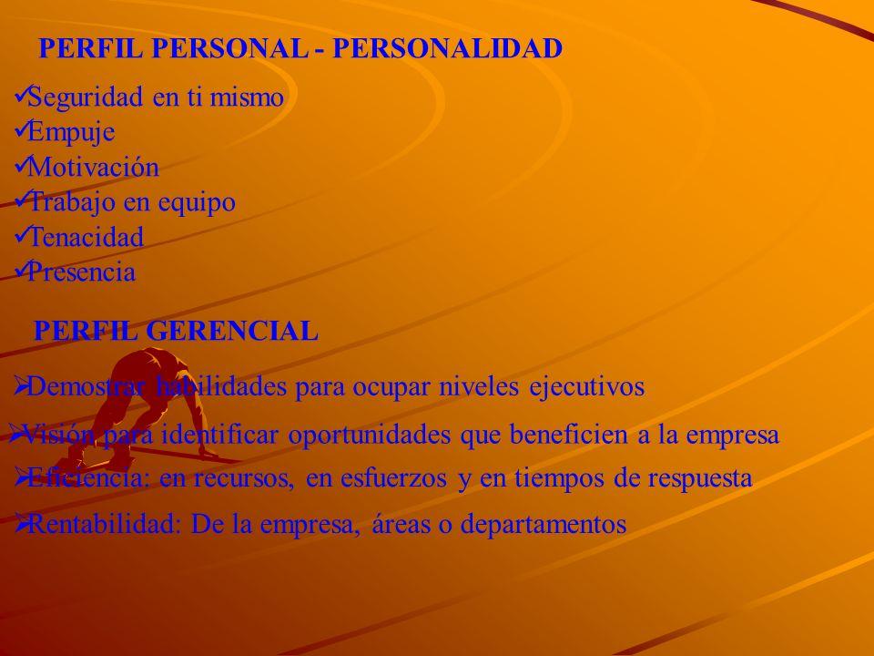 PERFIL PERSONAL - PERSONALIDAD