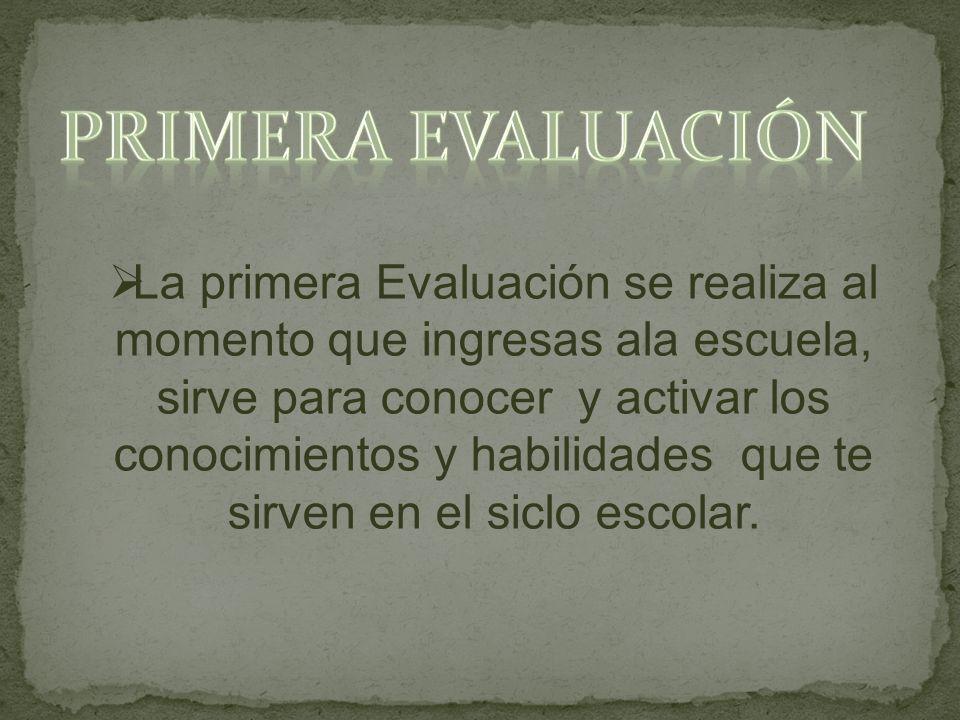Primera Evaluación