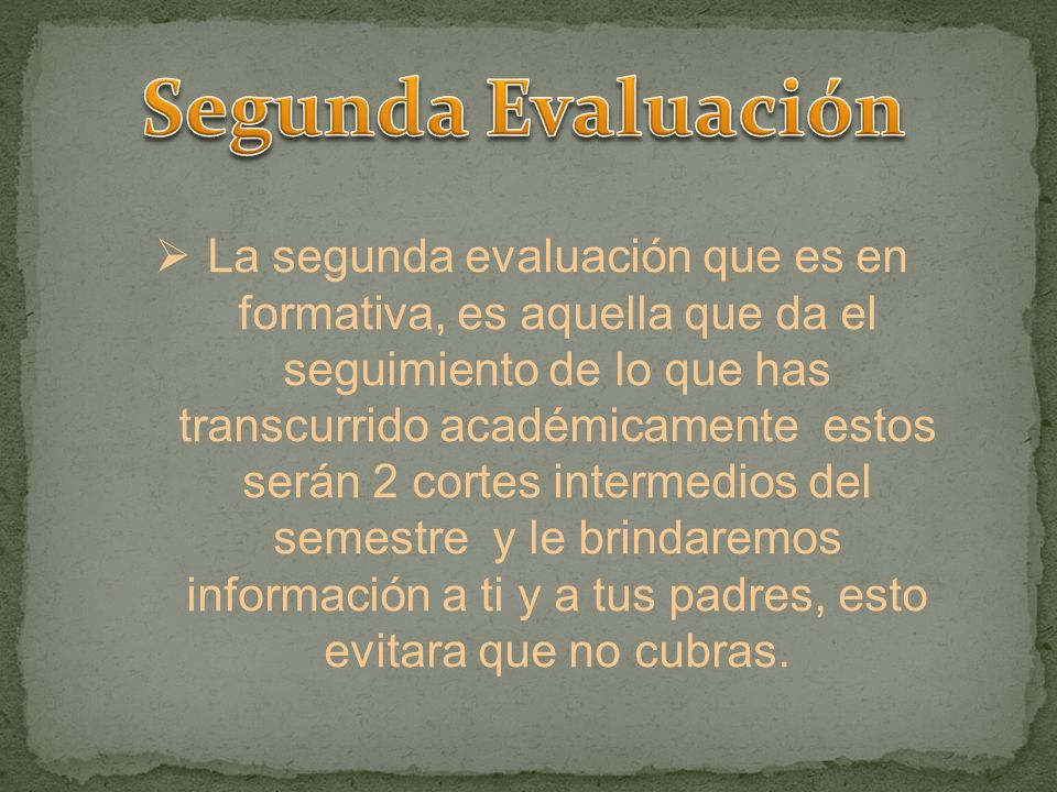 Segunda Evaluación