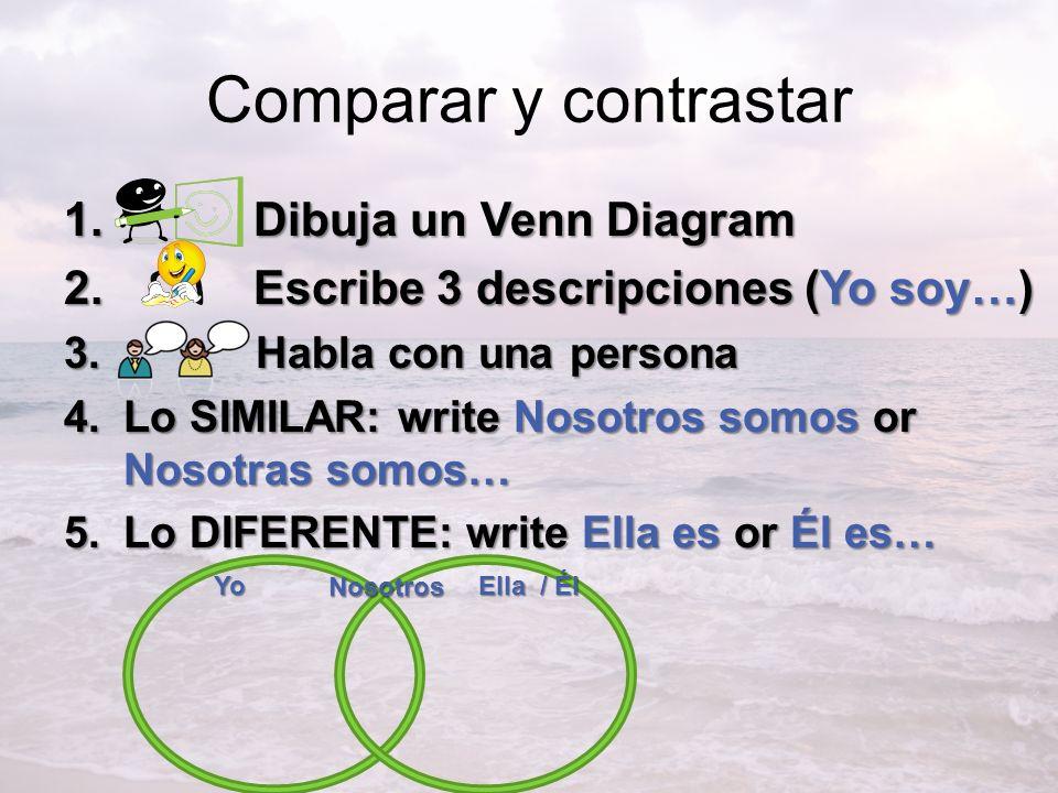 Comparar y contrastar Dibuja un Venn Diagram